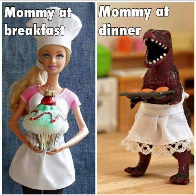 mommy at dinner